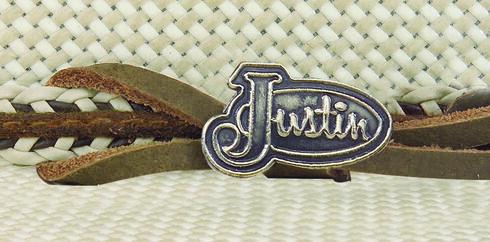 Justin Bent Rail Garrett Straw Cowboy Hat, Ivory, hi-res