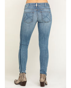 Ariat Women's Light Wash R.E.A.L. Ella Double Outseam Skinny Jeans, Blue, hi-res