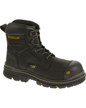 "Caterpillar Men's Rasp 6"" Waterproof Work Boots - Composite Toe , Black, hi-res"