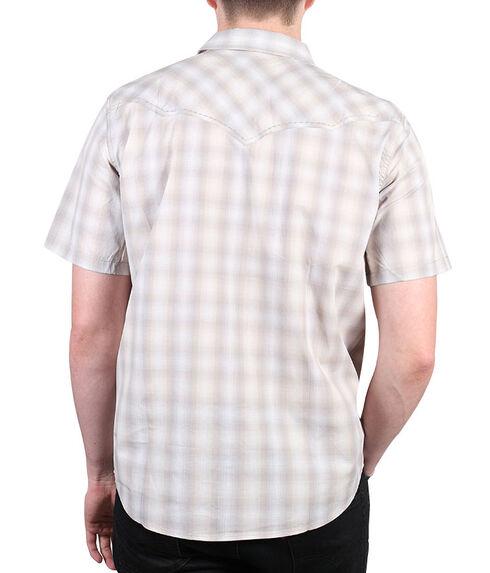 Cody James Men's Salerno Short Sleeve Western Shirt, Khaki, hi-res