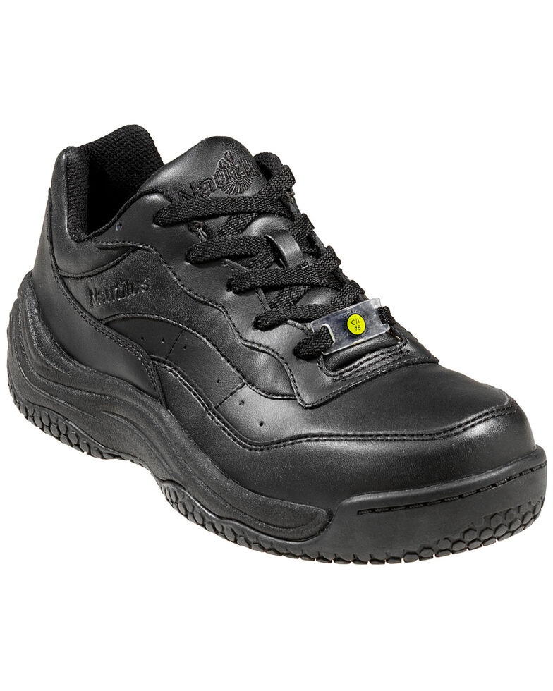 Nautilus Men's Black Ergo Slip-Resistant Athletic Work Shoes , Black, hi-res