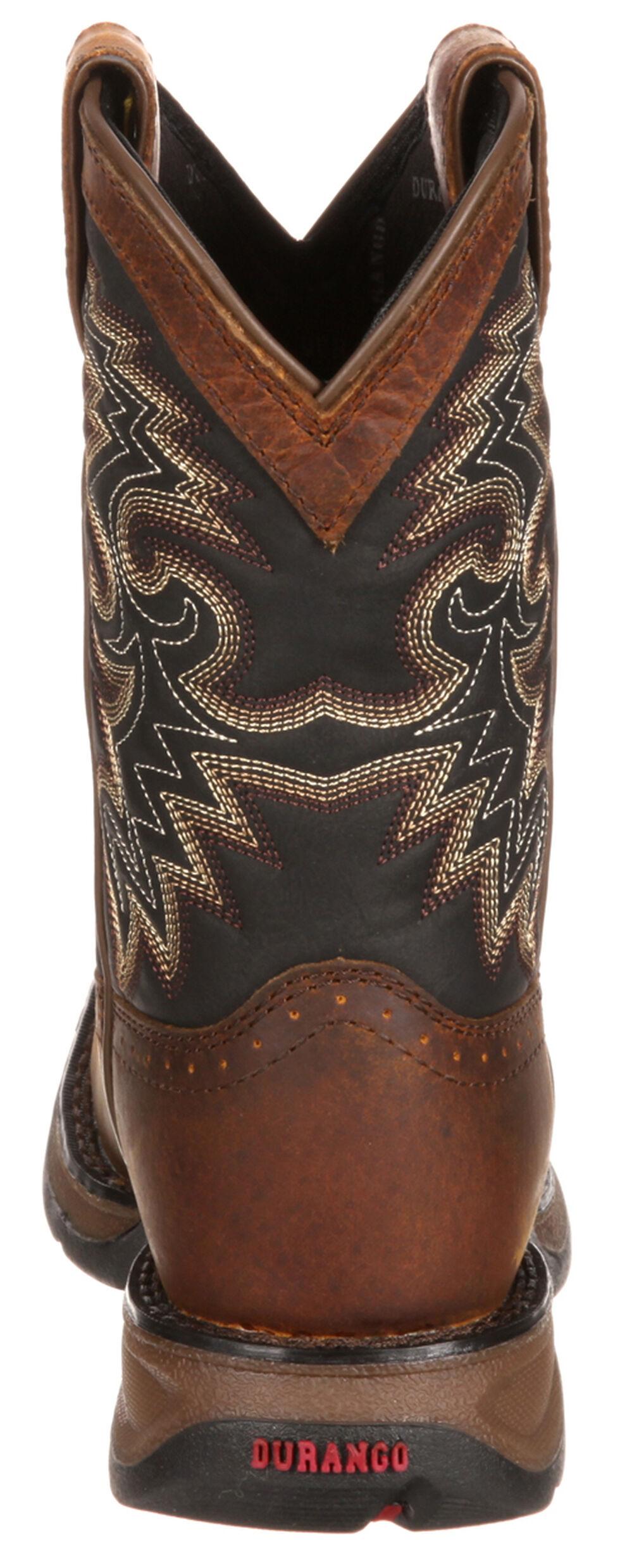 Durango Toddler Boys' Raindrop Western Boots - Square Toe, Tan, hi-res