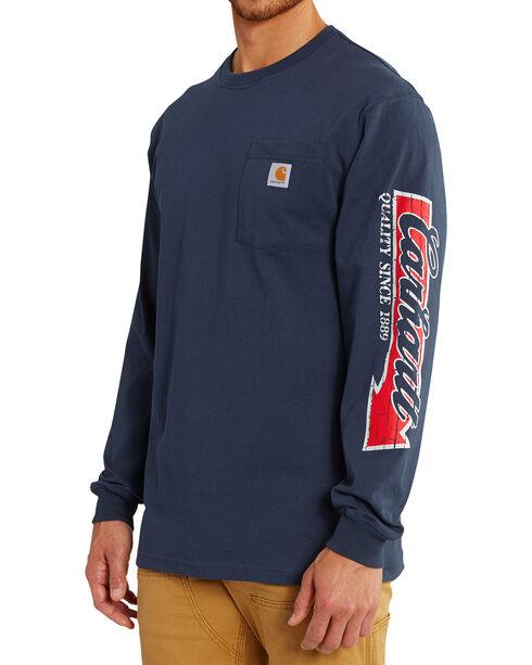 Carhartt Men's Workwear Graphic Carhartt Way Long-Sleeve T-Shirt - Big and Tall , Navy, hi-res