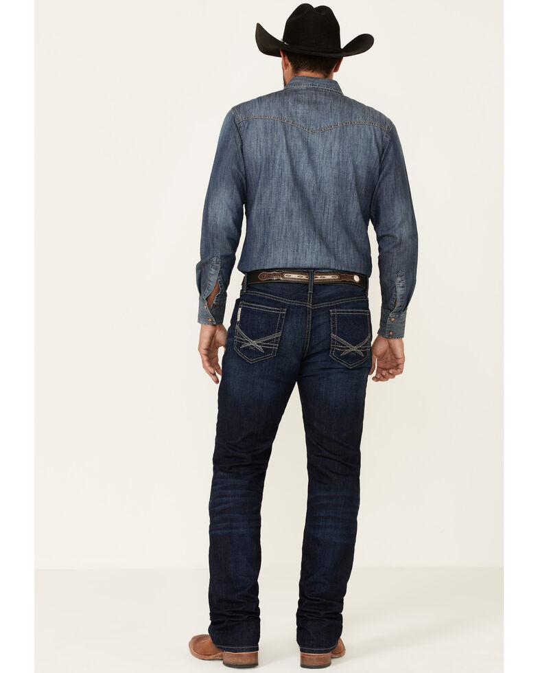 Cinch Men's Dark Ian Rinse Performance Stretch Slim Bootcut Jeans , Indigo, hi-res