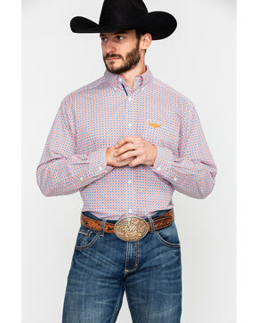 Ariat Men's Mechanic Geo Print Long Sleeve Western Shirt , Multi, hi-res