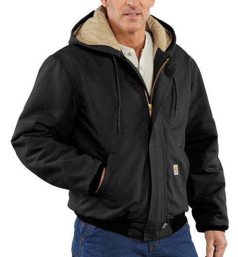 Carhartt Flame-Resistant Duck Active Hooded Jacket - Big & Tall, Black, hi-res
