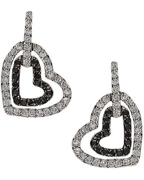 Montana Silversmiths Hearts Deep Reflections Dangle Earrings, Silver, hi-res