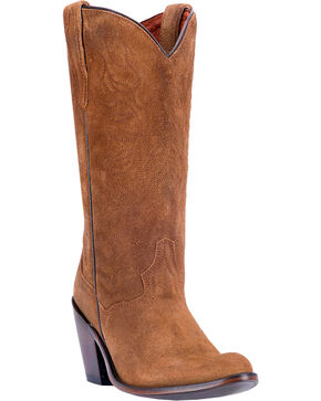 Dan Post Women's Meena Western Boots - Round Toe , Brown, hi-res