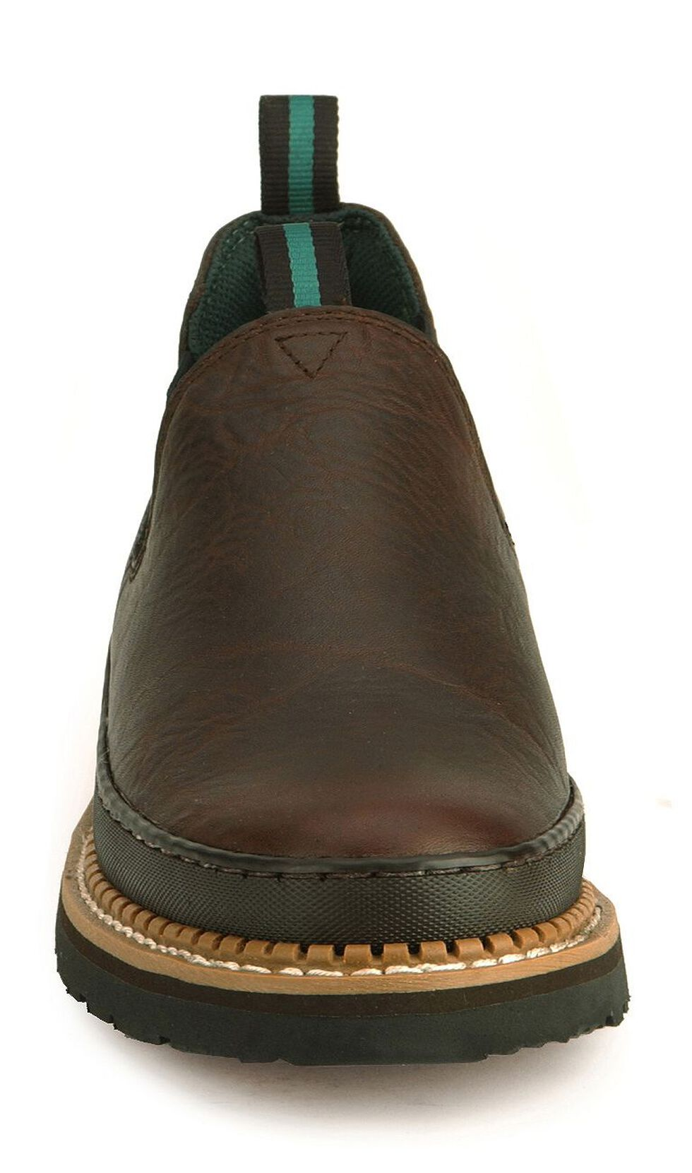 Georgia Giant Romeo Slip-On Work Shoes, Dark Brown, hi-res
