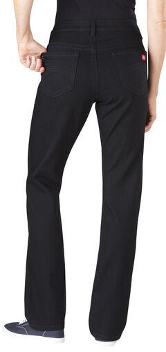 Dickies Women's Slim Fit Stretch Denim Jean, Black, hi-res