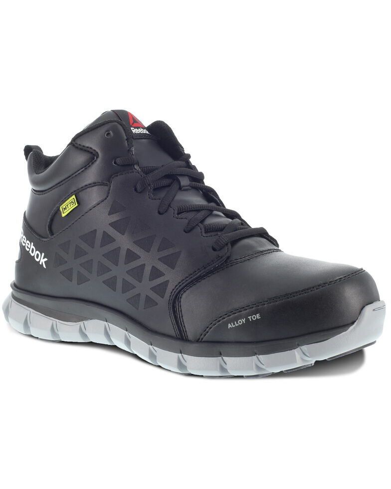 Reebok Men's Sublite Met Guard Work Shoes - Alloy Toe, Black, hi-res