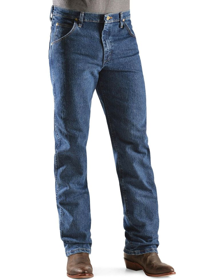 Wrangler Men's Premium Performance Advanced Comfort Mid Stone Jeans - Big & Tall, Med Stone, hi-res