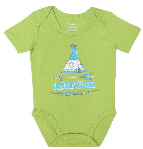 Wrangler Infant Boys' Teepee Bodysuit, Lime, hi-res