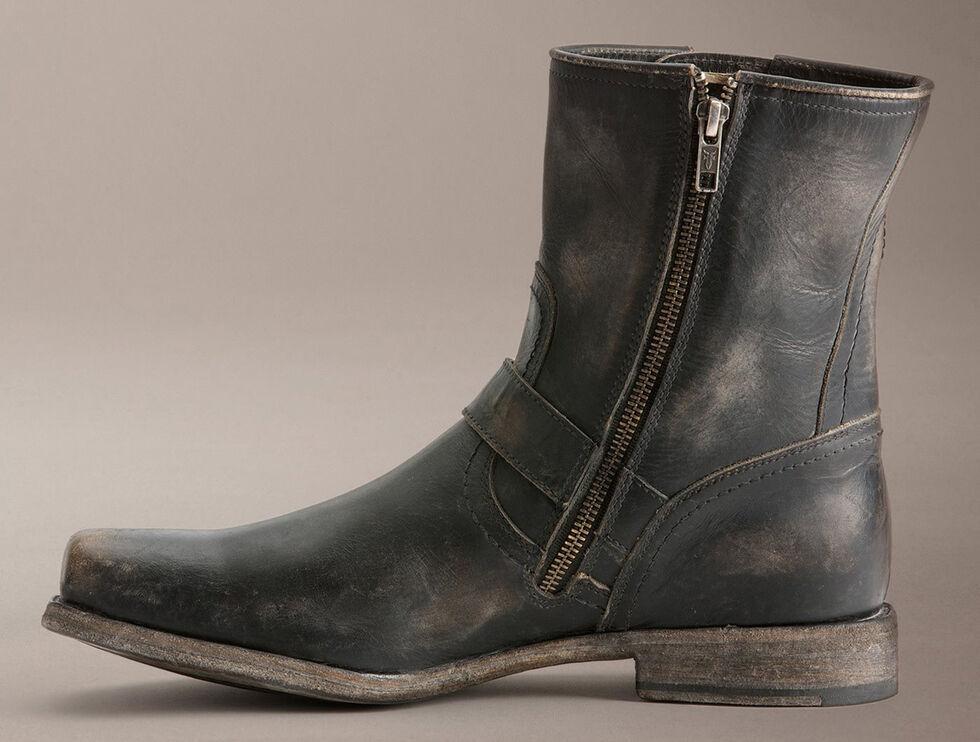 7c0266219b Zoomed Image Frye Smith Engineer Stonewashed Boots, Black, hi-res
