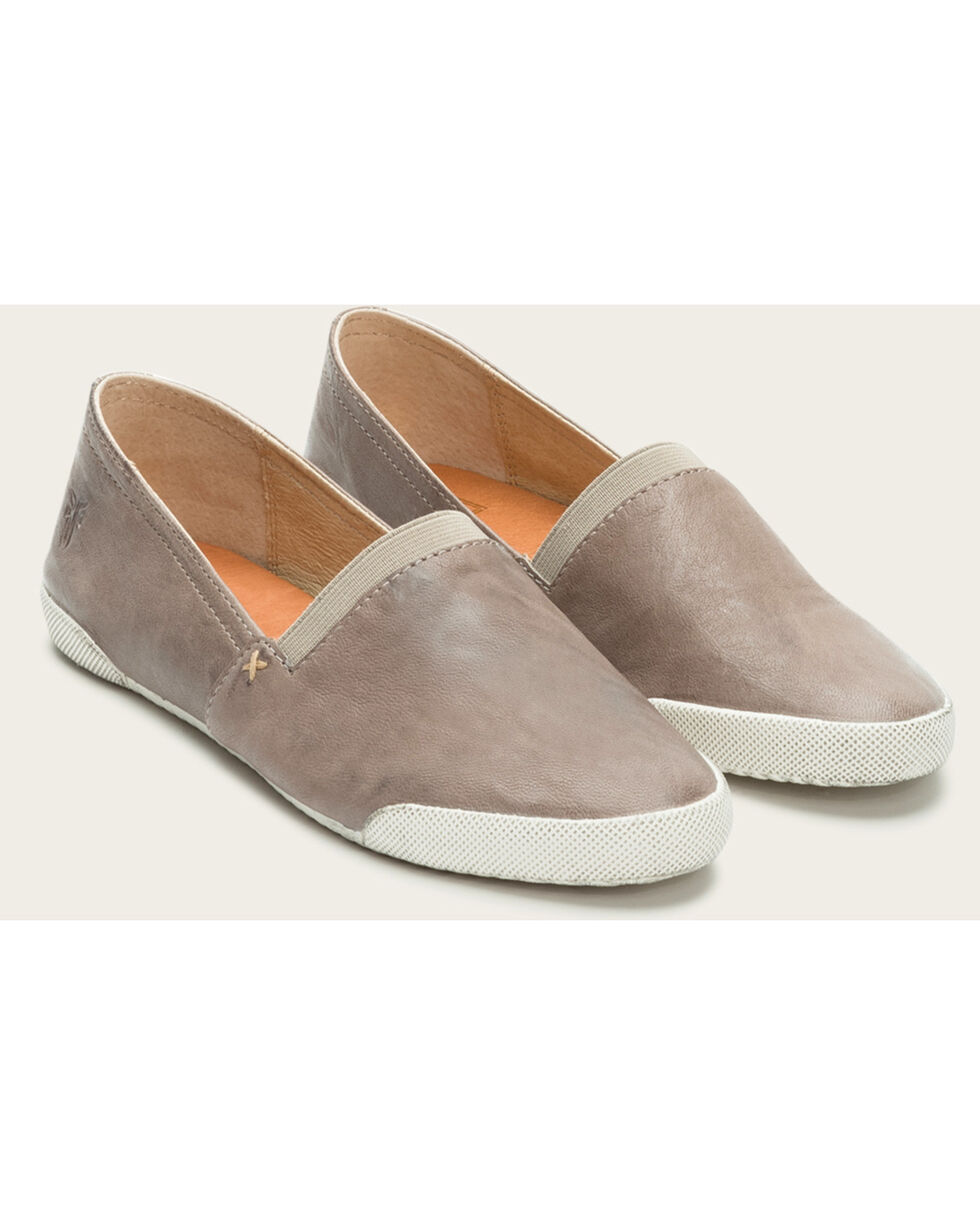Frye Women's Grey Melanie Slip On Shoes  , Dark Grey, hi-res