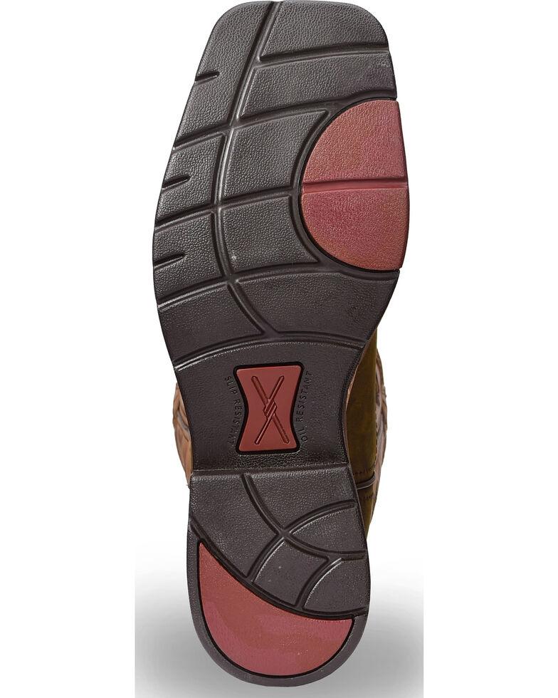 Twisted X Men's Lite Cowboy Work Boots - Steel Toe , Brown, hi-res