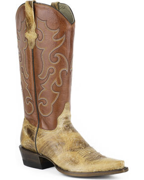 Stetson Women's Rosa Cowgirl Boots - Snip Toe, Tan, hi-res
