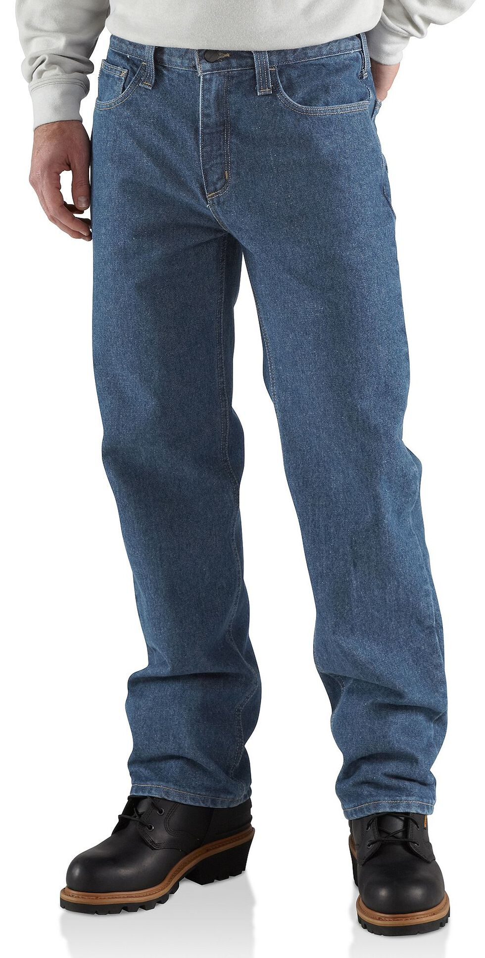 Carhartt Flame Resistant Utility Denim Relaxed Fit Jeans - Big & Tall, Midstone, hi-res