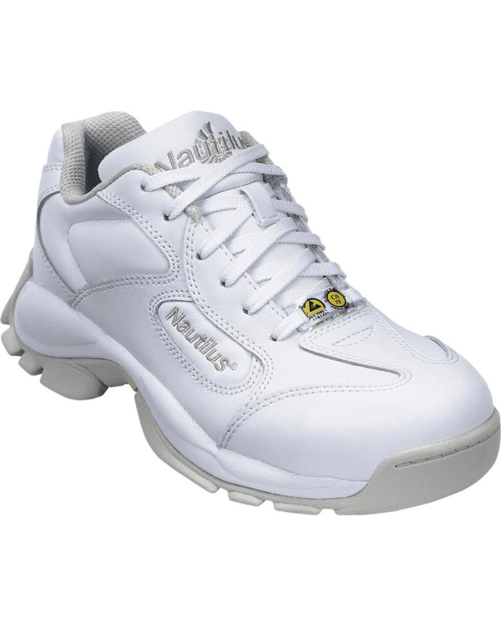 Nautilus Women's Athletic Work Shoes - Steel Safety Toe , White, hi-res