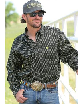 Cinch Men's Black Sunglasses Print Long Sleeve Shirt , Black, hi-res