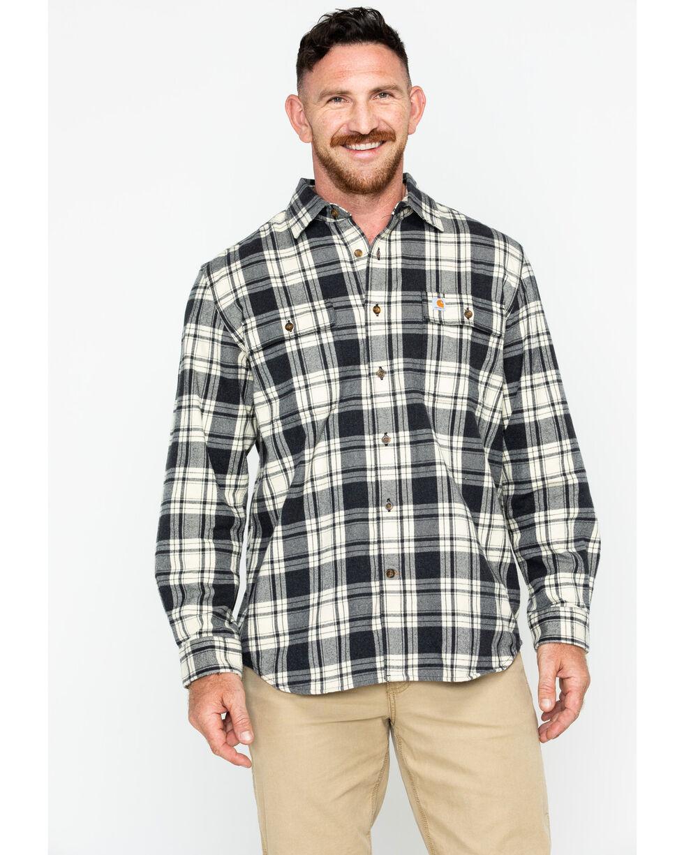 Carhartt Men's Hubbard Plaid Long Sleeve Shirt , Black, hi-res