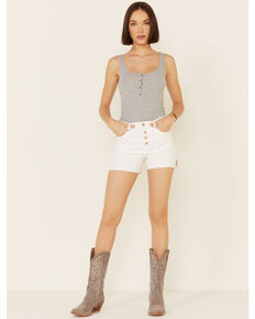 Ariat Women's Rita Boyfriend Shorts, White, hi-res
