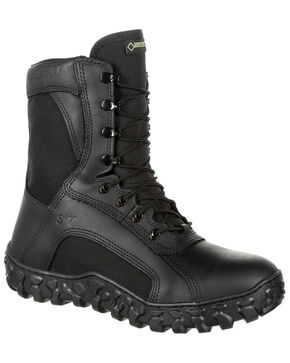 Rocky Men's S2V Insulated Waterproof Military Boots - Round Toe, Black, hi-res