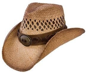 Charlie 1 Horse Dirt Road Straw Hat, Tea, hi-res