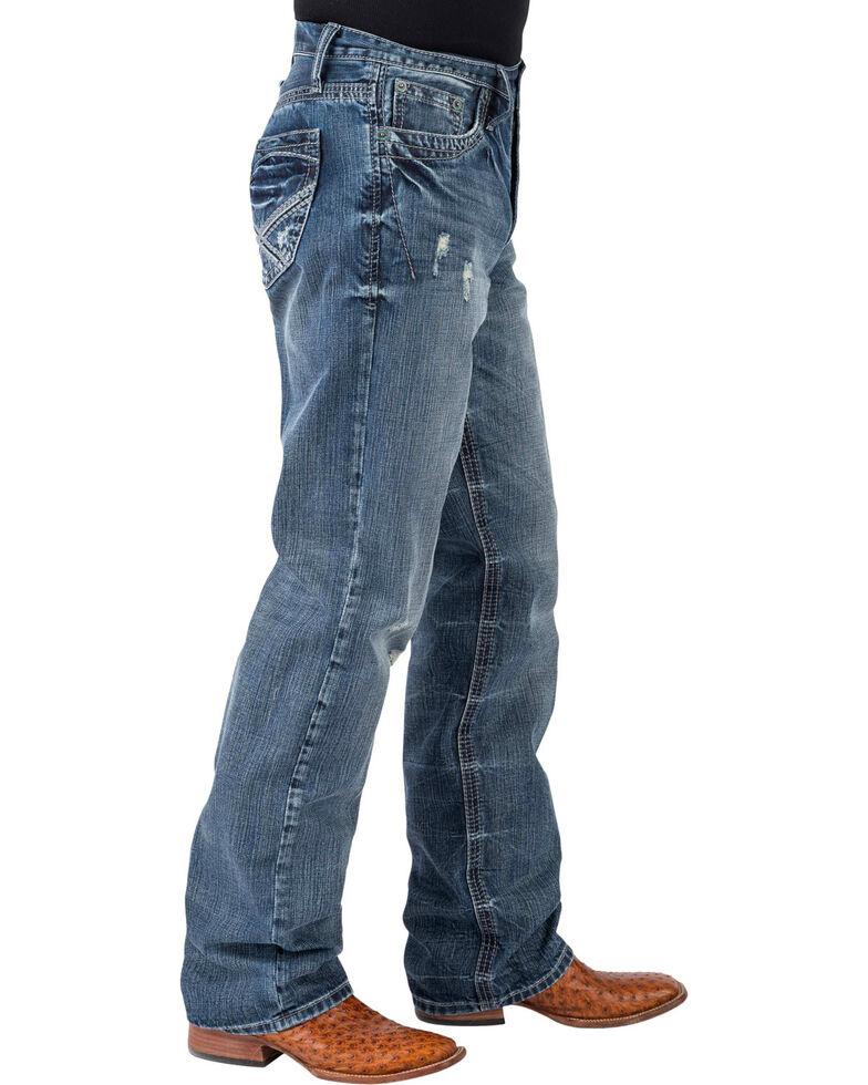 Tin Haul Men's Regular Joe Fit Medium Wash Bootcut Jeans, Indigo, hi-res