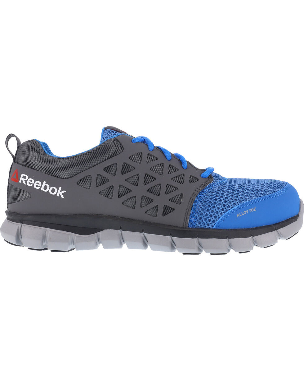 Reebok Men's Mesh Athletic Oxfords - Alloy Toe, Blue, hi-res