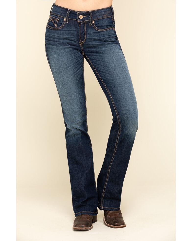 Ariat Women's R.E.A.L Sidney Bootcut Jeans, Blue, hi-res