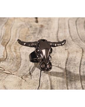 Shyanne Women's Copper Steer Skull Ring, Rust Copper, hi-res