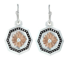Montana Silversmiths Portrait of a Prairie Daisy Earrings , Silver, hi-res