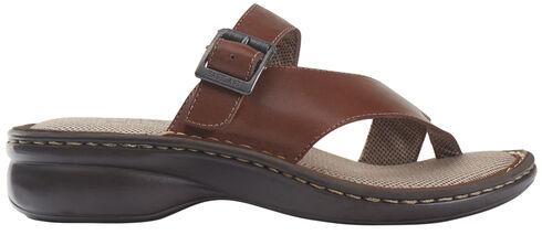 Eastland Women's Tan Townsend Thong Sandals , Brown, hi-res