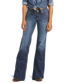 Ariat Women's Evie Trouser Leg Jeans, Blue, hi-res