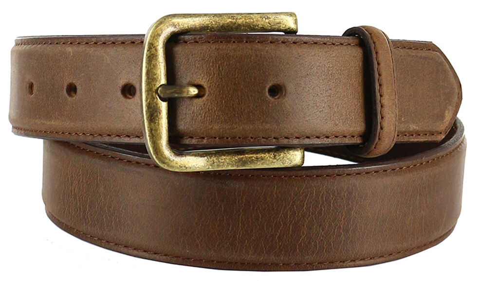 Cody James Men's Classic Leather Belt, Tan, hi-res
