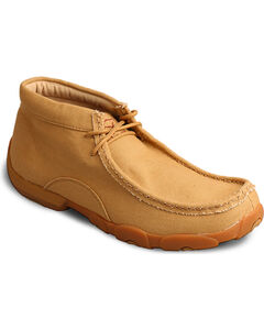 Twisted X Men's Tan Ankle Driving Moccasins - Moc Toe , Tan, hi-res