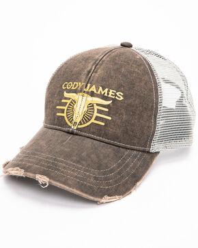 Cody James Men's Skull Snapback Cap, Grey, hi-res