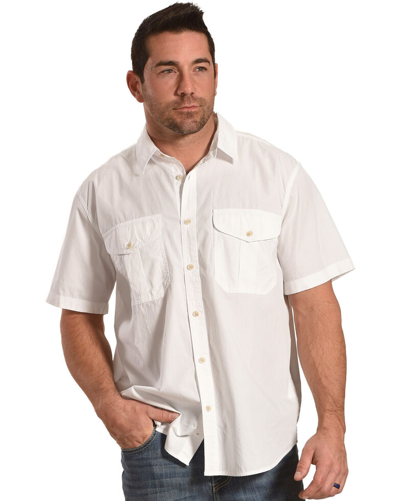 cafbeb6df4250 Filson Men s White Feather Cloth Short Sleeve Shirt