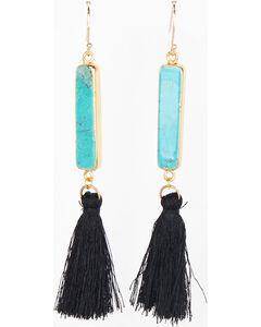 Everlasting Joy Jewelry Women's Black Arizona Tassel Earrings , Black, hi-res