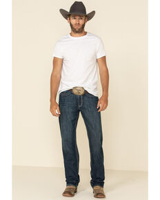 Cinch Men's White Label Performance Dark Relaxed Straight Jeans  , Indigo, hi-res