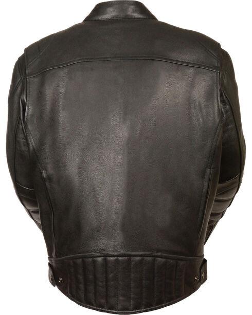 Milwaukee Leather Men's Black Longer Body Vented Jacket - Big 5X, Black, hi-res