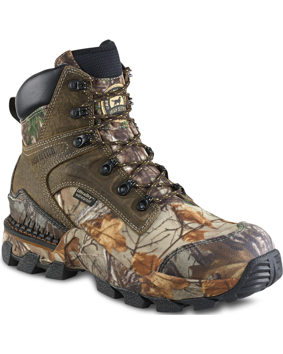 "Irish Setter by Red Wing Shoes Men's Realtree Xtra UltraDry 8"" Hunting Boots - Round Toe, Camouflage, hi-res"