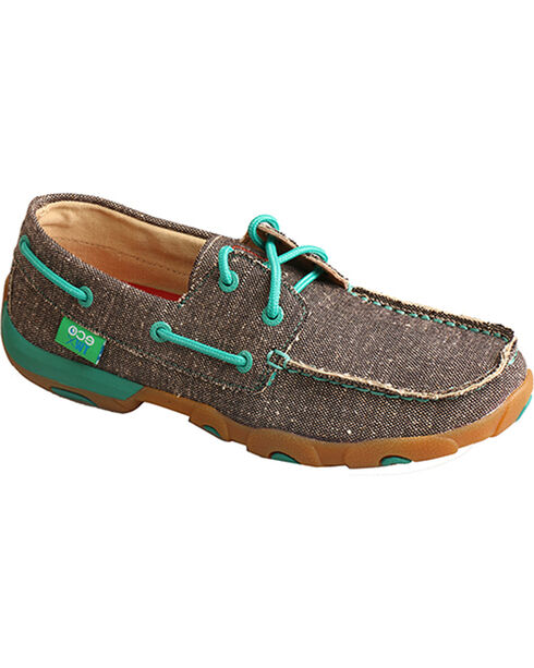 Twisted X Women's ECO Driving Moccasins, Brown, hi-res