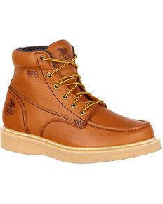 Georgia Boot Men's Wedge Work Boots - Steel Toe, Gold, hi-res