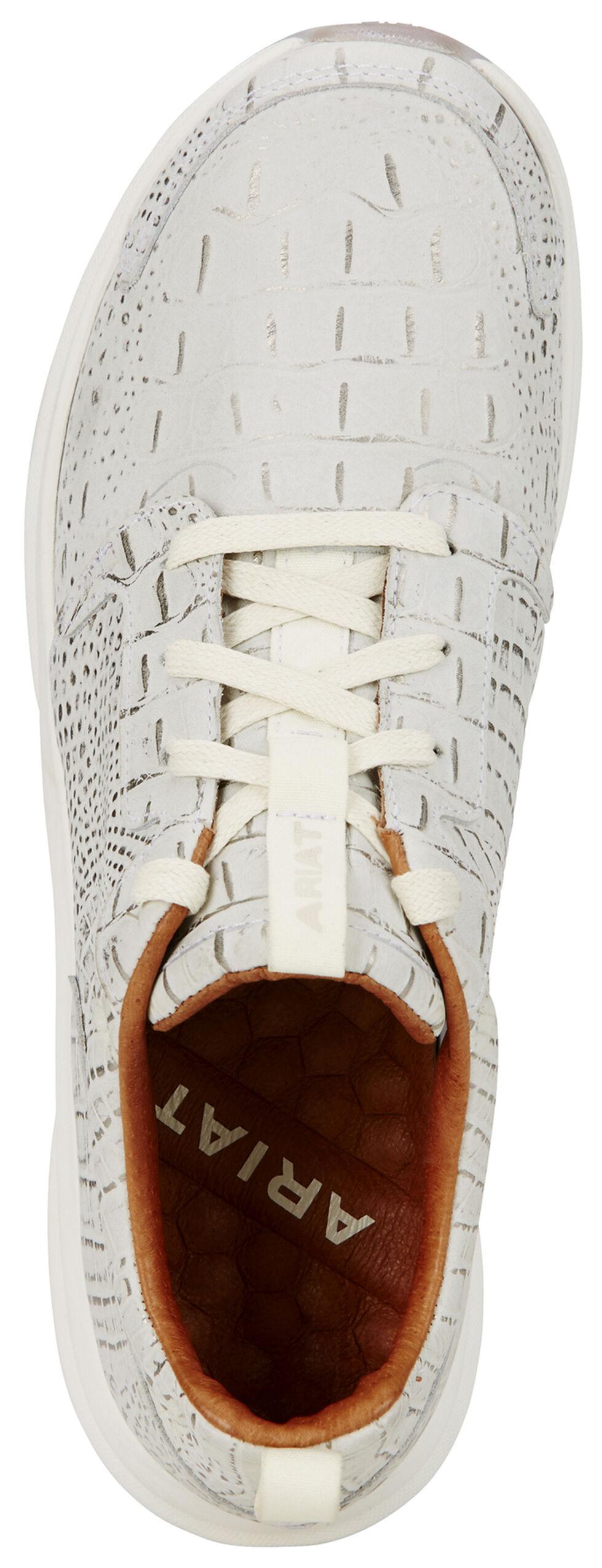 Ariat Women's Electric Croc Fusion Athletic Shoes , White, hi-res