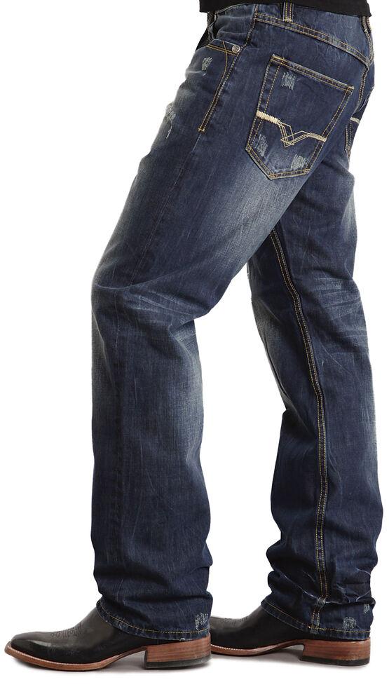 "Stetson 1520 Fit ""V"" & ""X"" Stitched Jeans, Dark Stone, hi-res"