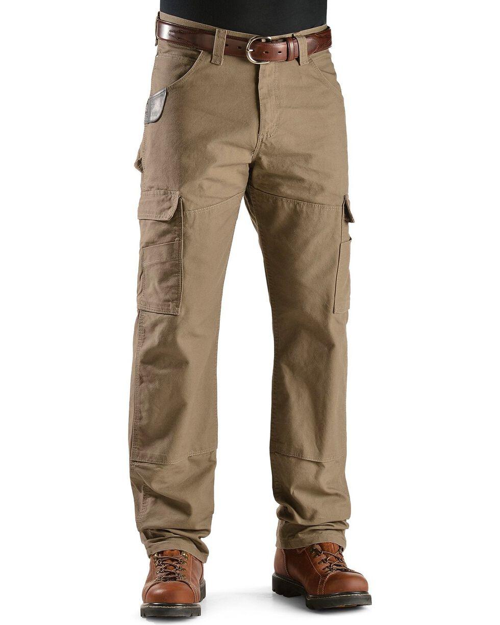 Wrangler Riggs Cordura Canvas Work Pants, Brown, hi-res