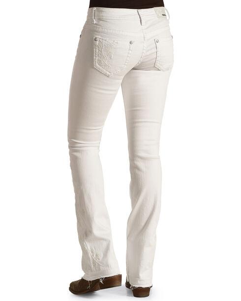 Grace in La Women's Released Hem Jeans - Boot Cut , White, hi-res
