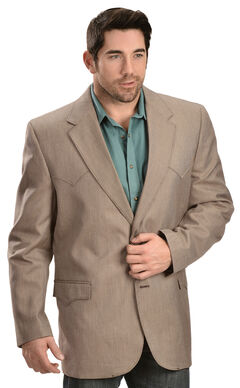 Circle S Men's Textured Brown Western Sport Coat, Brown, hi-res